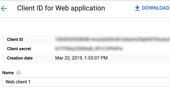 web application client ID