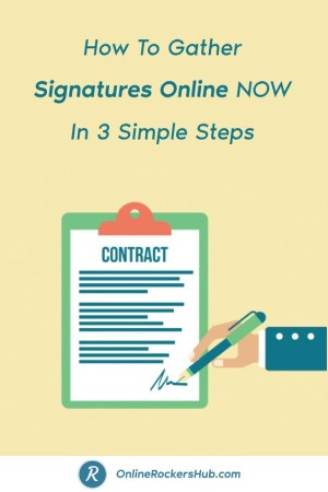 How To Gather Signatures Online NOW In 3 Simple Steps - Pinterest Image