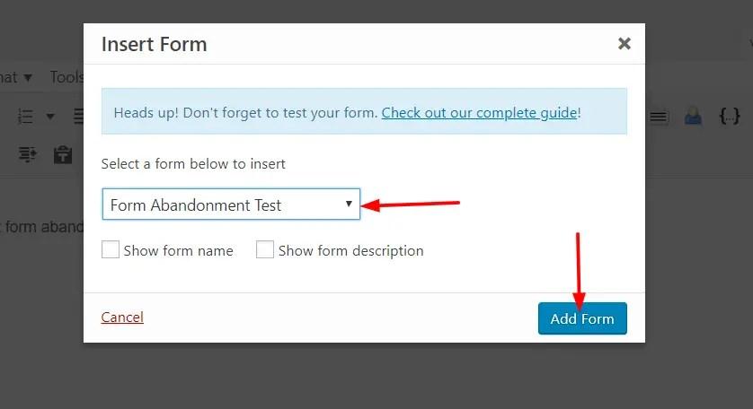 choose form