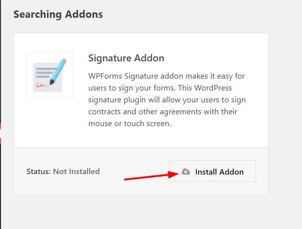 install signature add-on