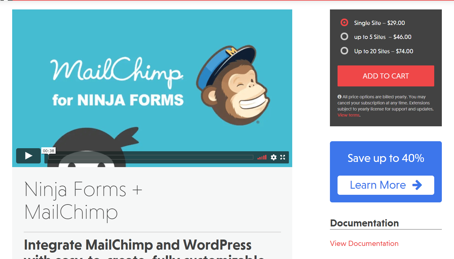 integrating mailchimp with Ninja Forms