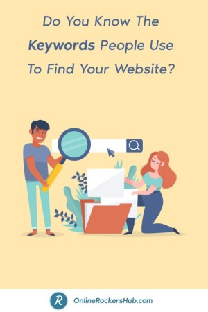 Do You Know The Keywords People Use To Find Your Website? - Pinterest Image