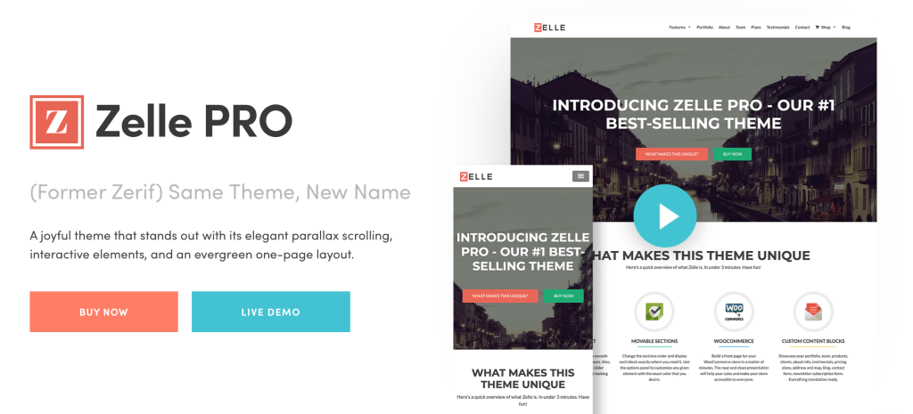 Zelle Pro - ThemeIsle WordPress Theme