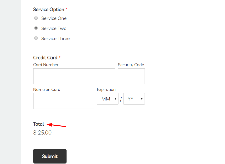 wpforms amount to pay