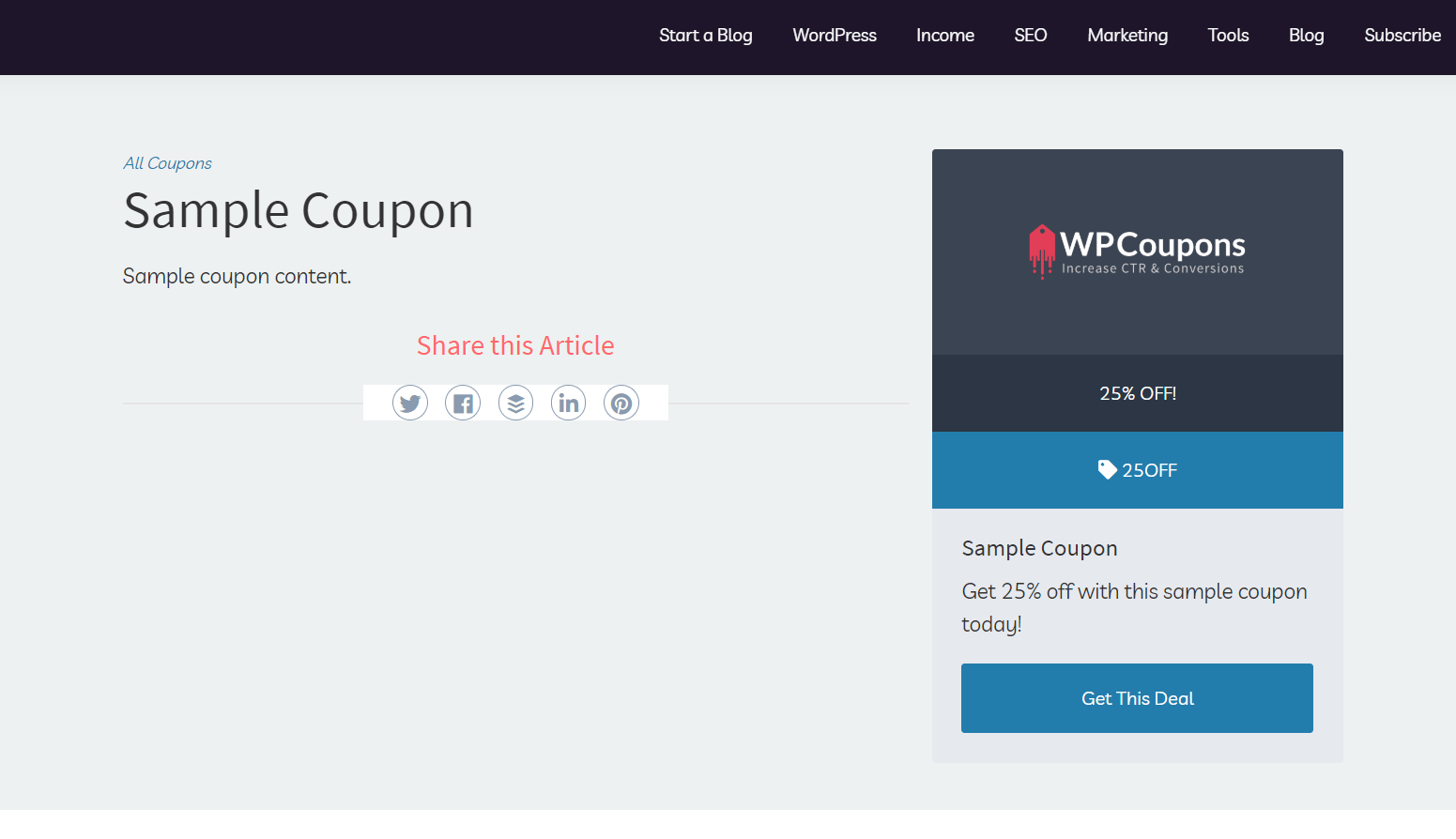 sample coupon