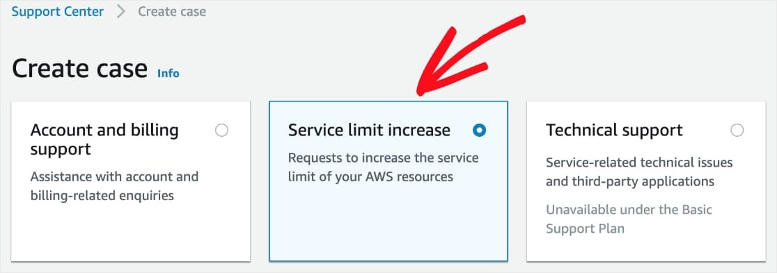service limit increase