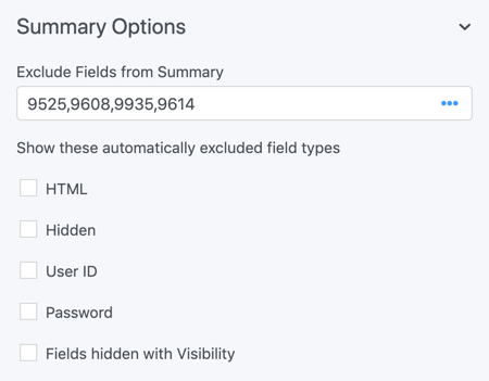 summary field