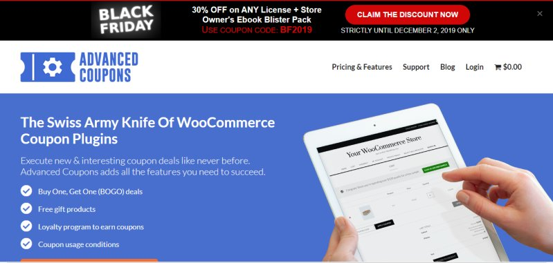Advanced Coupons Plugin Black Friday Sale