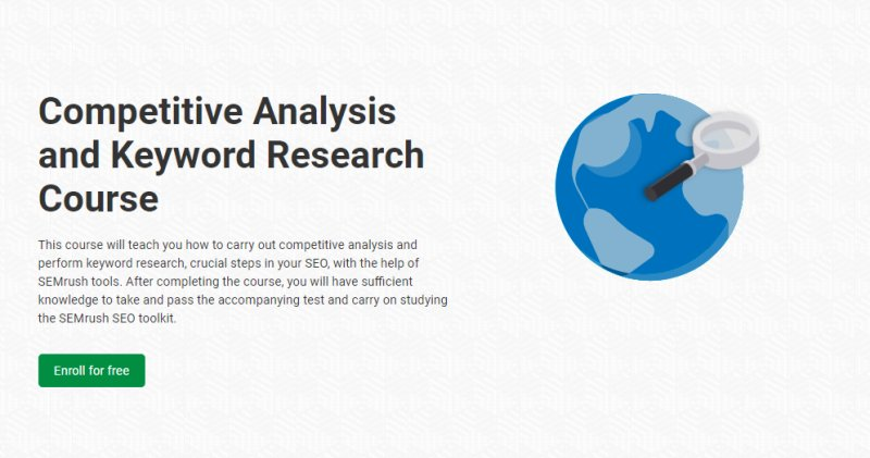 Competitive Analysis and Keyword Research Course