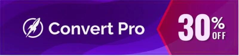Convert Pro Black Friday Sale Banner