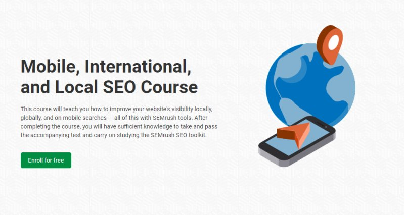 Mobile, International and Local SEO course