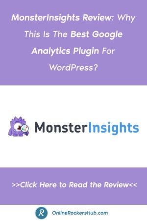 MonsterInsights Review: Why This Is The Best Google Analytics Plugin For WordPress - Pinterest Image