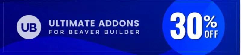 Ultimate Addons for Beaver Builder - Black Friday Banner