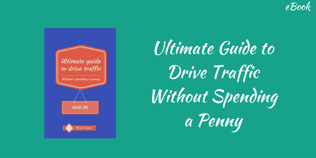 eBook on Ultimate Guide to Drive Traffic to your Website without Spending a Penny