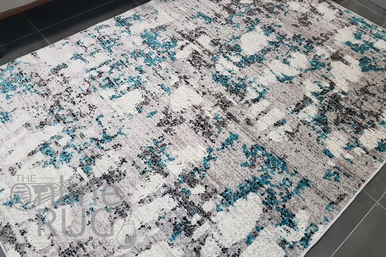 Freedom Grey Blue Abstract Pattern Rug  The Online Rug Store