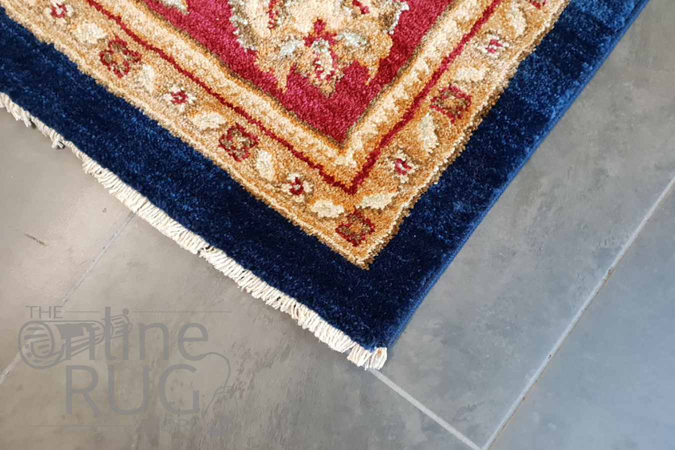 Mahala Navy Blue Red Oriental Traditional Rug  The Online