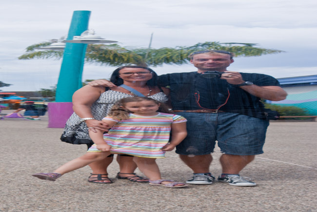 En lille tyk familie i USA.