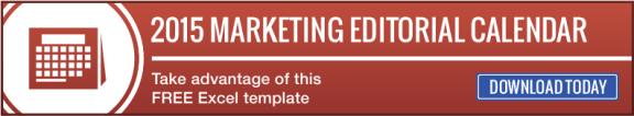 2015 Marketing Editorial Calendar