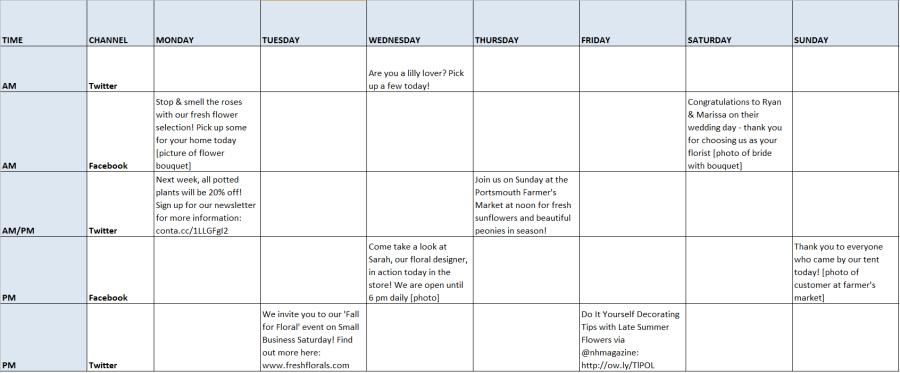 create schedule online