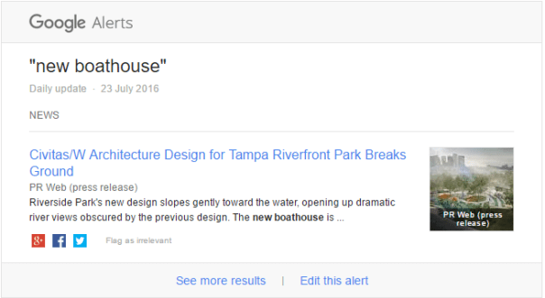 google alerts example creative agency secrets