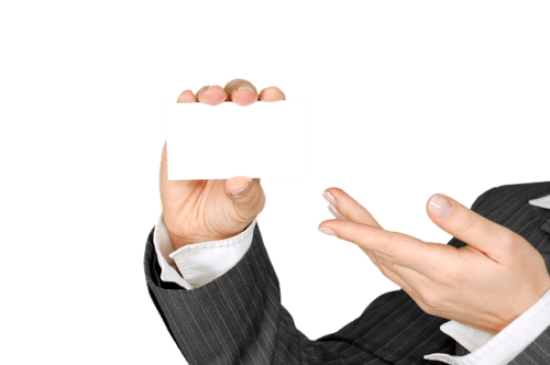 Business Card for People In-Transition