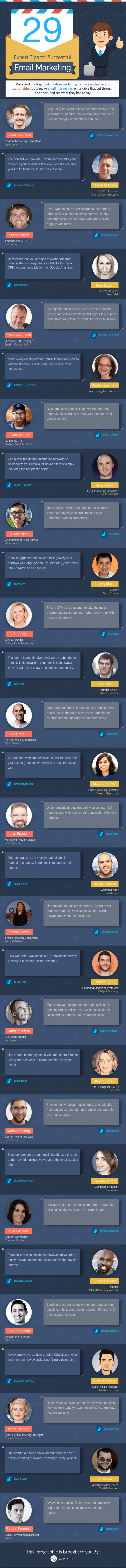 29 Exclusive Email Marketing Tips by Experts [Infographic]