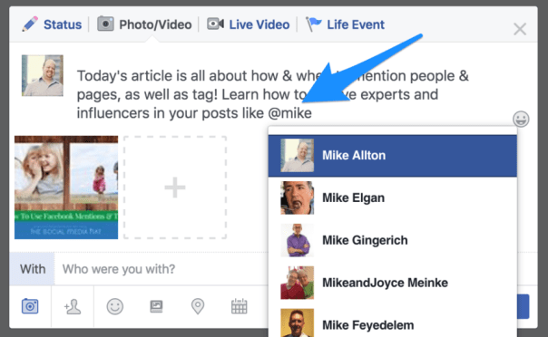 The Complete Guide to Facebook Mentions and Tags for People and Pages