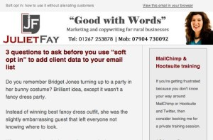 Header only email format
