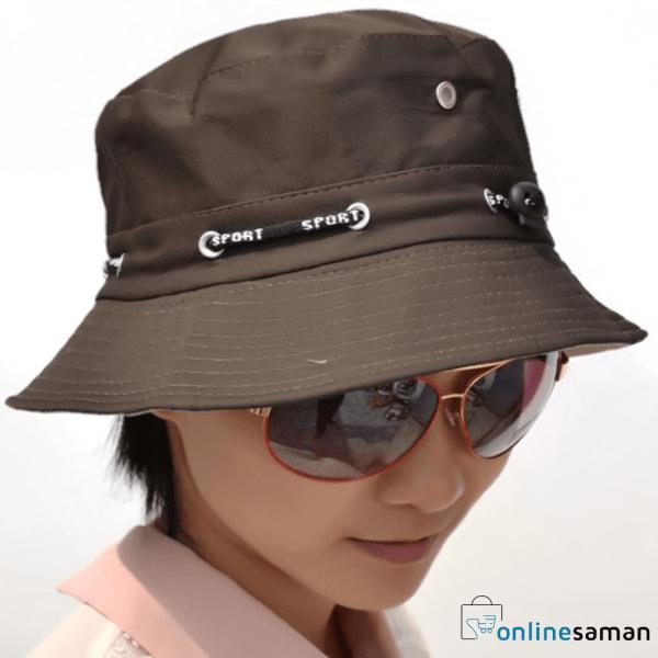 Wave Bucket Hat Brown