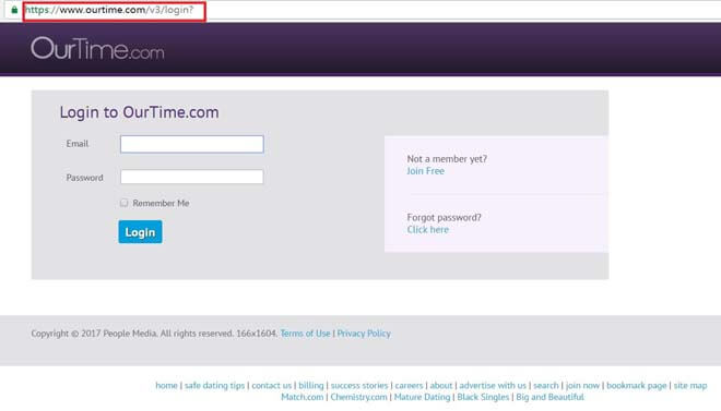 Https ourtime auto login