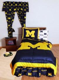 Michigan Wolverines Bedding, Michigan Bedding Set