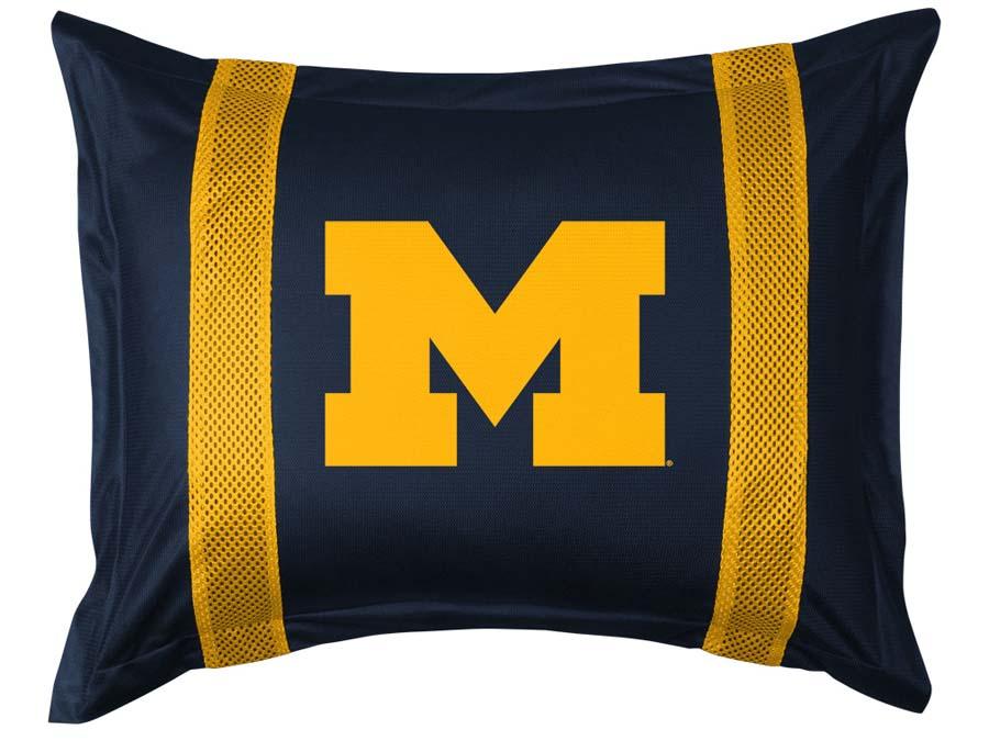 University of Michigan Wolverines Sham Bed Pillowcase