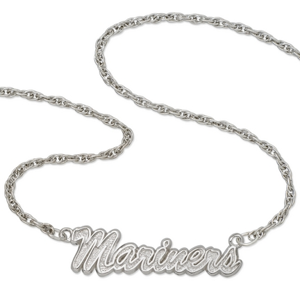 """Seattle Mariners """"Mariners"""" Sterling Silver Script Necklace"""