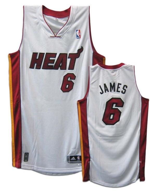 Lebron James Miami Heat White Revolution 30 Authentic