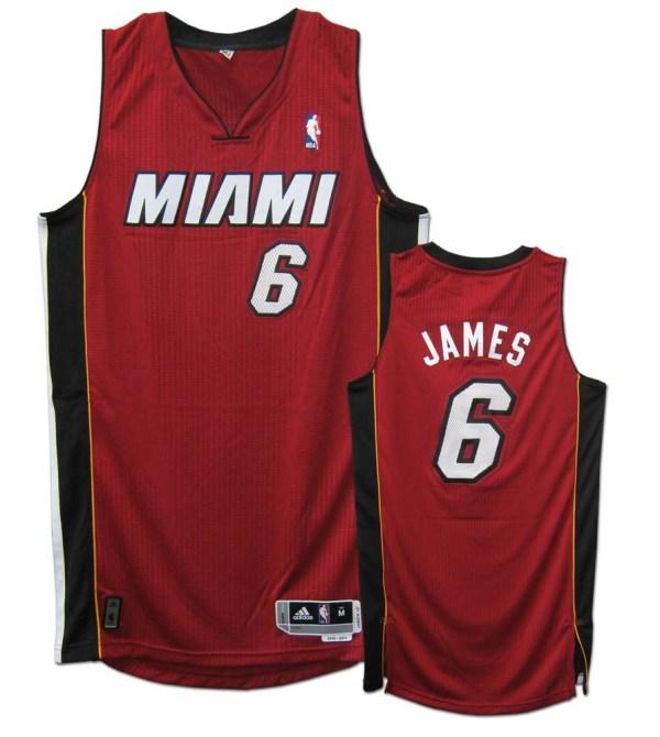 Adidas Miami Heat Lebron James Black Youth Revolution 30