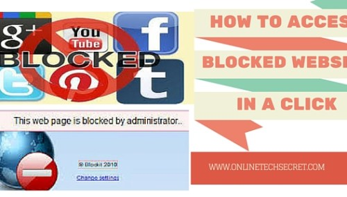 How to Access Blocked Website from a Click