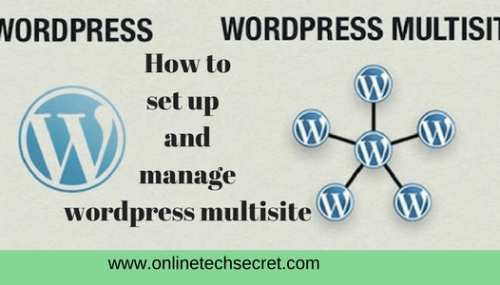 WordPress Multisite : How to Start a WordPress Multisite