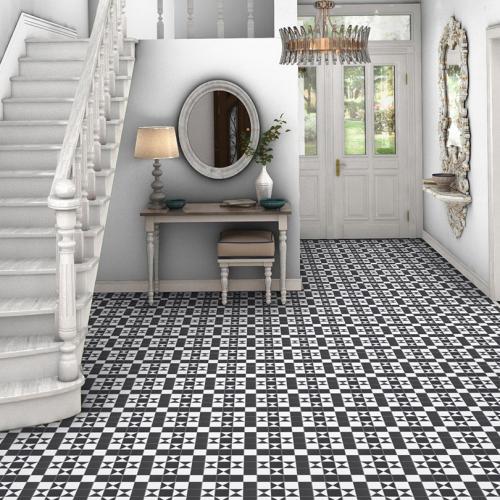 bristol black white geometric pattern