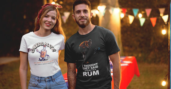 Online T Shirts Alcohol Tee's