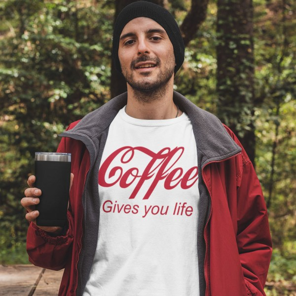 Coffee Gives You Life Men T Shirt