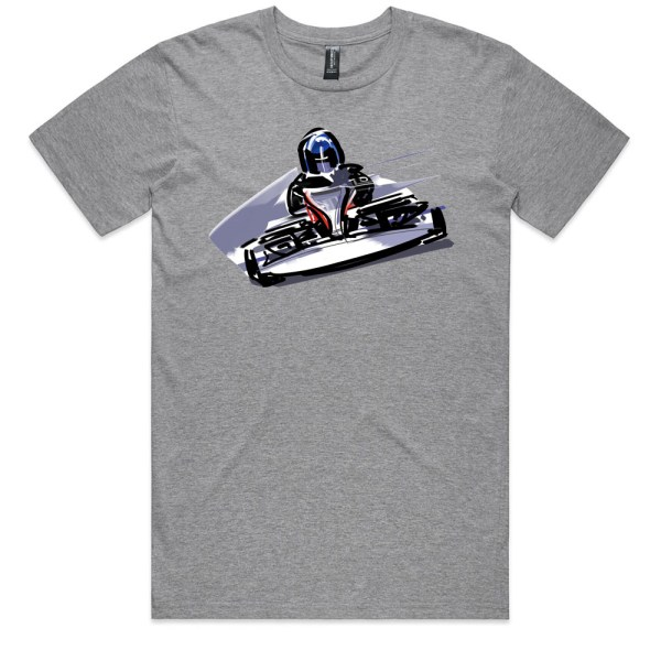 Go Cart Men Grey Marle T Shirts