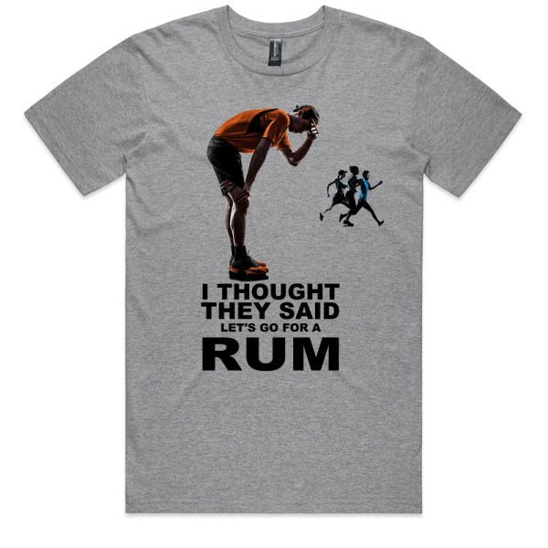 I Thought They Said RUM Men Grey Maarle T Shirts