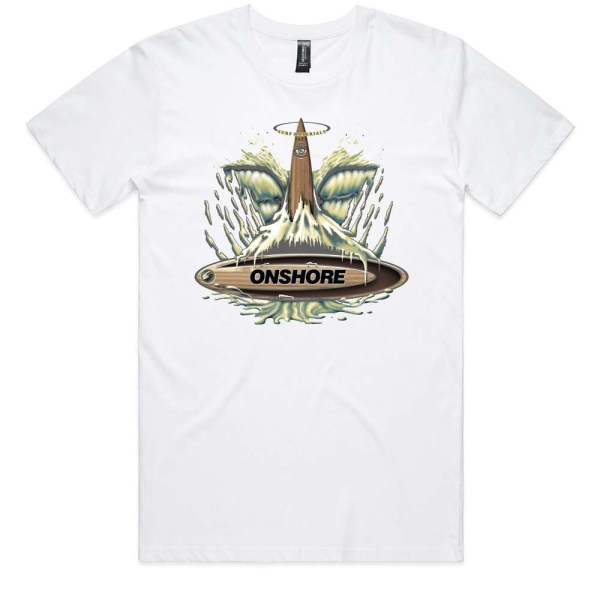 Onshore Surf Whale Tail Men T Shirt White