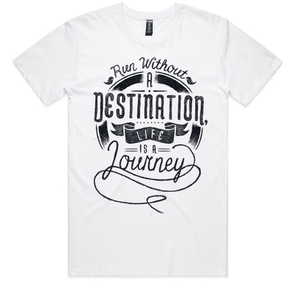 Run Without a Destination Men White T Shirts