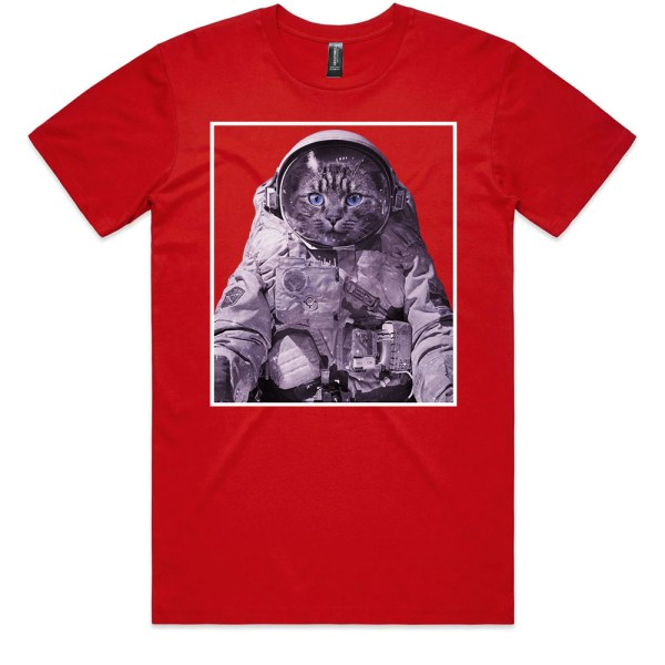 pace Kitty Men Red T Shirts