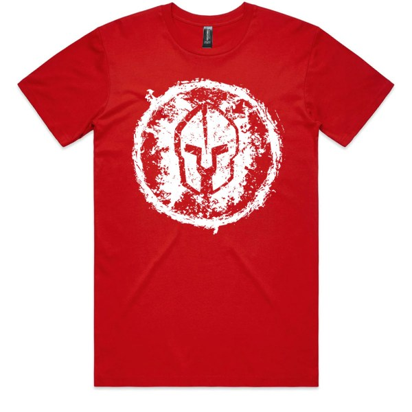 Spartan Grungy Men Red T Shirts
