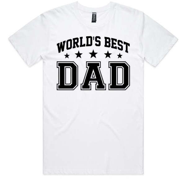 Worlds Best Dad Men White T Shirts