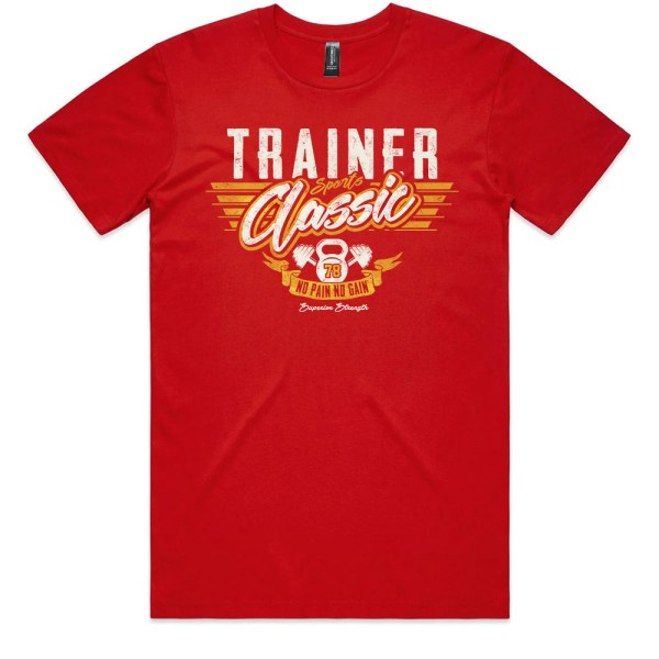 Classic Sports Trainer Men Red T Shirts