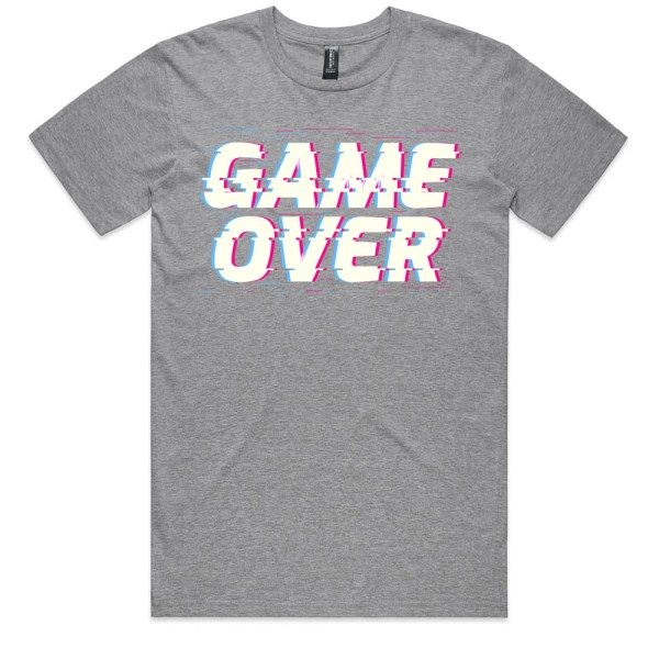 Game Over Men Grey T Shirts