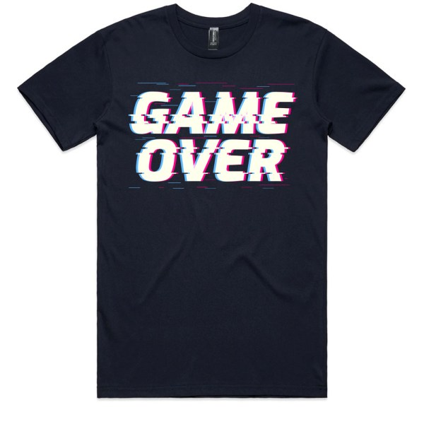 Game Over Men Navy T Shirts